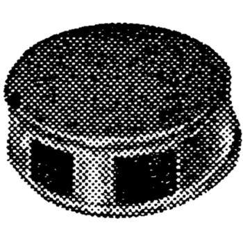Kunststoffplomben orange 9 mm Durchmesser Beutel 1