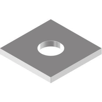 Vierkantscheiben DIN 436 - Edelstahl A2 f.Holzkonstr.- 24,0 f.M22