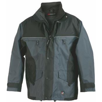 Regenjacke System grau/schwarz Gr. XL