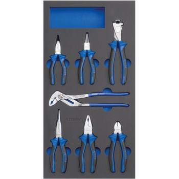 Modul-Hartschaumeinlage Zangen-Satz 7-tlg. 293 x 5 87 x 31 mm schwarz/blau