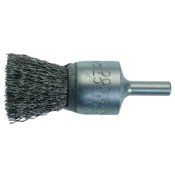 Pinselkopfbürste 12x40 mm, Schaft 6 mm Gewellter V 2A Draht 0,3 mm