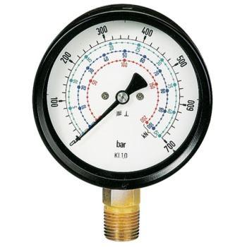Manometerglas mit Schleppzeiger 100 mm Durchmesser