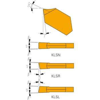 Hartmetall-Stecheinsätze KLSL-3 HSS-TIN