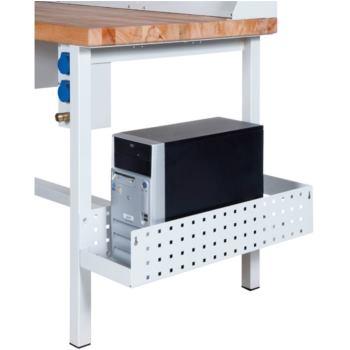 PC-Halter für Arbeitsplatzsystem RAL 7035 licht