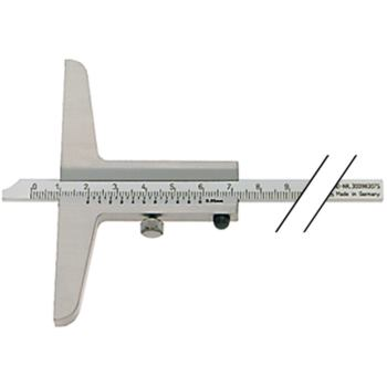 Tiefenmessschieber Schieblehre INOX 150 mm Brücke 100 mm mattverchromt