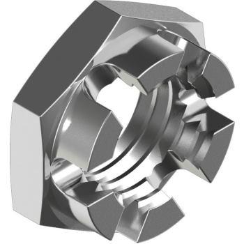 Kronenmuttern DIN 937 - Edelstahl A2 niedrige Form M 6