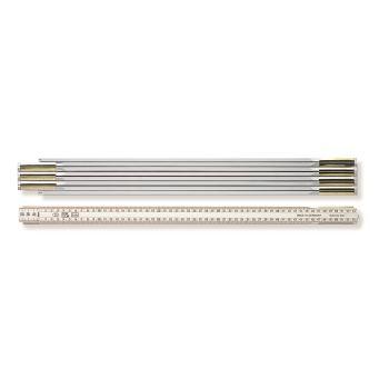 Holzgliedermaßstab Länge 4 m, weiß 973900500