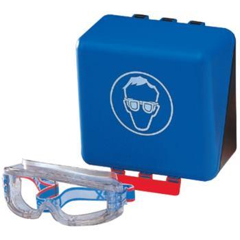Sicherheits-Box für Brillen 236x225x125 mm blau