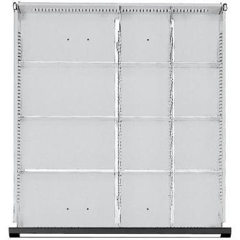 Schubladen-Einteilungssatz 1/2-1/4 Teilung fü