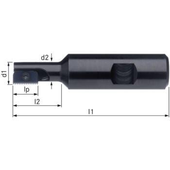 Halter für Gewindefräsplatten WSP ST einfach Durch m.30 Schaft-Durchm.25HB