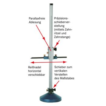 Höhenreißer 2000 mm mm-mm-Teilung
