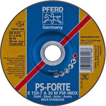 Schruppscheibe E 150-7 A 30 M PSF-INOX/22,23