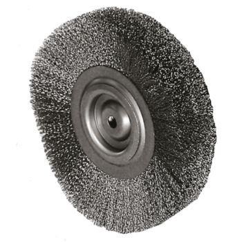 Rundbürste Durchmesser 150 mm, Bohr.14 mm Gewellte r V2A Draht 0,3 mm