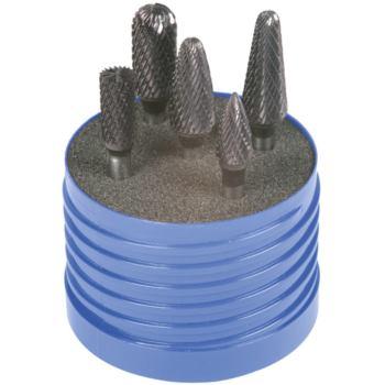 Hartmetall-Frässtifte 6 mm TiAlN 5-teilig Zahnung 6