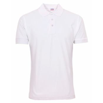 Polo-Shirt Basic weiß Gr. L