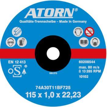 Trennscheibe für Metall Ø 115x1,0 mm Universal