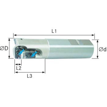 Wendeschneidplatten Bohr-/Senkfräser 90 Grad D=32 mm für APKT1603