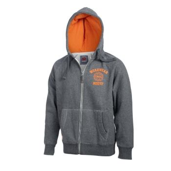 Herren Sweatjacke grau/orange Gr. M