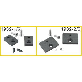 Ersatzteil-Satz: 1 Paar Prägebacken, 30 mm breit,2 Schrauben, 2 Spannhülsen