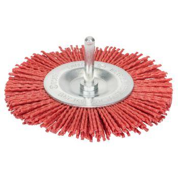 Scheibenbürste, Nylon mit Korund, 1 mm, 100 mm, 8