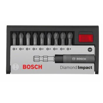 Schrauberbit-Set Diamond Impact (gemischt), 10-tei