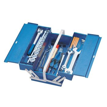 Werkzeugsortiment im Werkzeugkasten 68-tlg