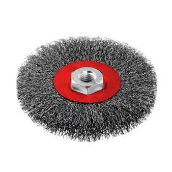 Scheibenbürste, Stahl, gewellter Draht, 0,3 mm, 11