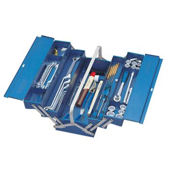 Werkzeugkasten, leer, 5 Fächer, 210x535x225 mm