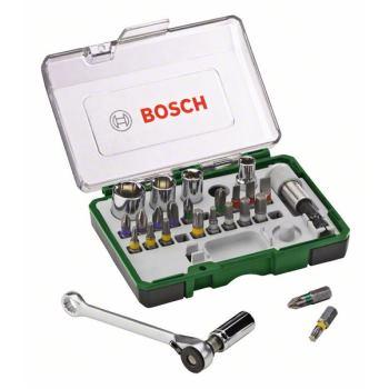 Mini-Schrauberbit- und Ratschen-Set, 27-teilig