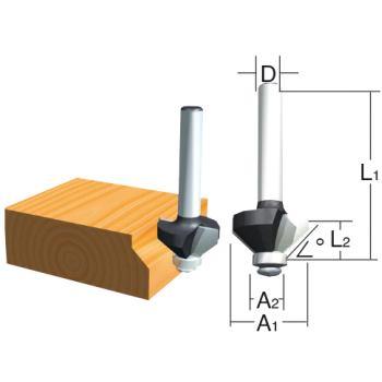 Winkelkantenfräser Ø 20mm ( Schaft 6mm )