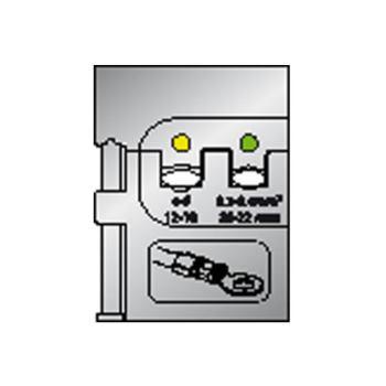 Modul-Einsatz für isolierte Kabelschuhe 0,1-0,4/4- 6