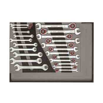 Werkzeugsatz Maul-Ringratschenschlüssel, Doppelmau lschlüssel