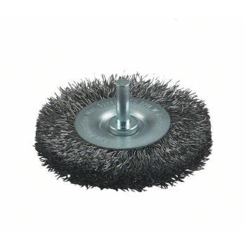 Scheibenbürste, Edelstahl, gewellter Draht, 0,3 mm