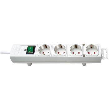 Comfort-Line Steckdosenleiste 4-fach weiß 2m H05VV-F 3G1,5