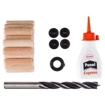Holzdübel-Set, 27-teilig, 10 mm, 40 mm