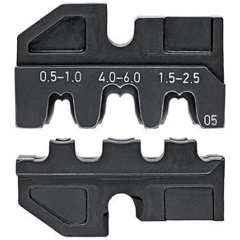 Crimpeinsatz für unisolierte, offene Steckverbinde r 4,8 + 6,3 mm