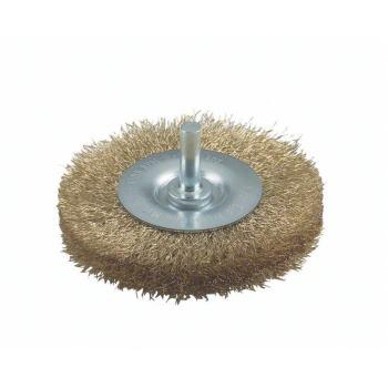 Scheibenbürste, Messing, gewellter Draht, 0,2 mm,