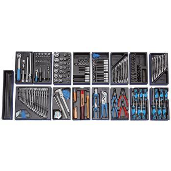 Werkzeugsortiment im Werkzeugwagen
