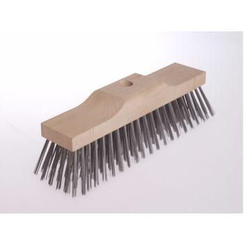 Besen Kastenholz 250 x 60 mm 5 x 16/ 17 rhg. S tahldraht STA glatt ca. 0,50 mm hoch 70 mm