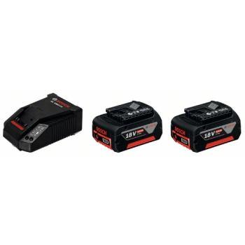 Akku Starter-Set 2 x GBA 18 Volt, 4,0 Ah, M-C + AL 1860 CV