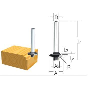 Rundkantenfräser 20mm ( Schaft 6mm )