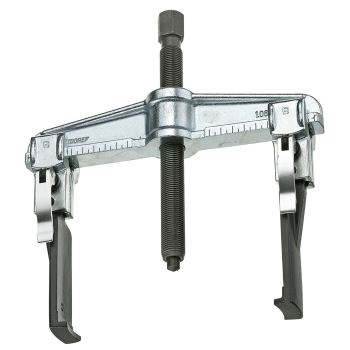 Schnellspann-Abzieher 2-armig, mit schlanken Haken 160x150 mm