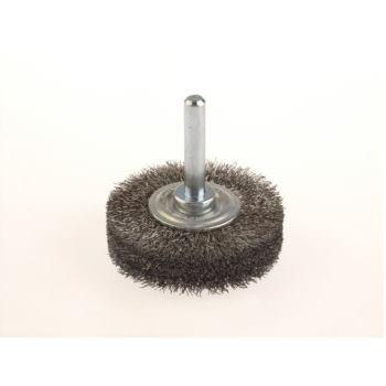 Rundbürsten mit 6 mm Schaft gewölbte Deckscheiben Drm 70 x 10 mm Stahldraht STA gew. 0,50 mm