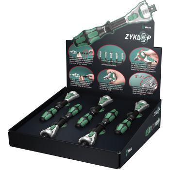 5 x Zyklop 3/8 Knarre 8000 B/5 Thekendisplay Zyklo