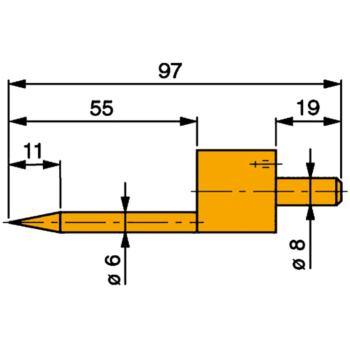 Messeinsatz Stahl gehärtet 0,5 - 5,5 mm mit k