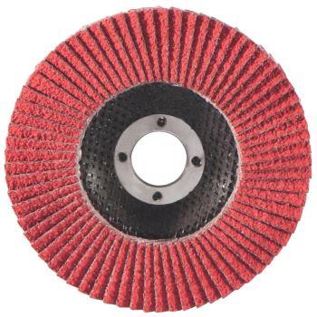 Lamellenschleifteller 125 mm P 60, Keramikkorn