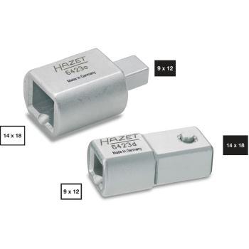 Einsteck-Adapter 6423D · Einsteck-4kt. 14 x 18 mm· Einsteck-4kt. 9 x 12 mm – 400 Nm · l: 45 mm