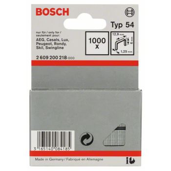 Flachdrahtklammer Typ 54, 12,9 x 1,25 x 6 mm