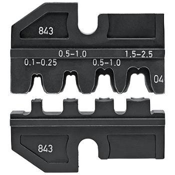 Crimpeinsatz für unisolierte, offene Steckverbinde r 2,8 + 4,8 mm