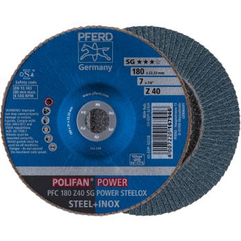 POLIFAN®-Fächerscheibe PFC 180 Z 40 SG-POWER/22,23